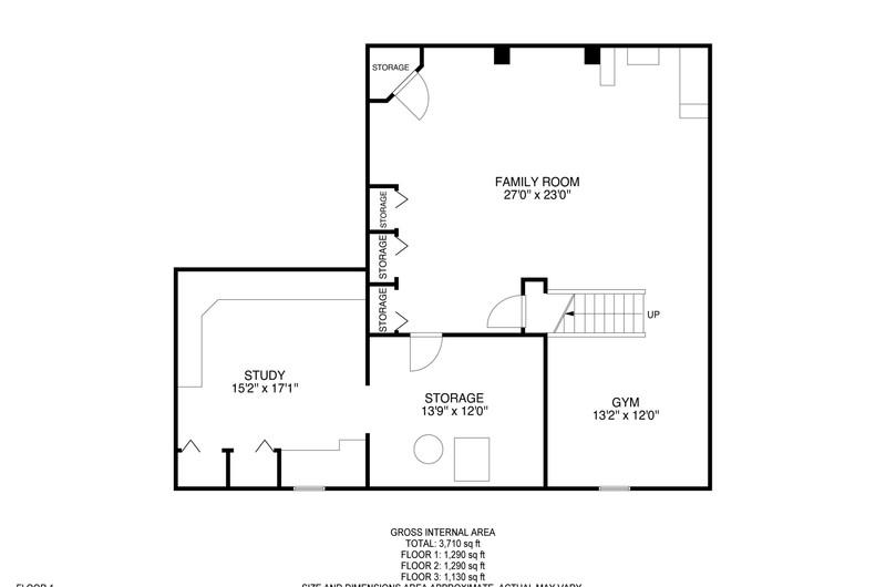 1215 Redfield Floorplan basement